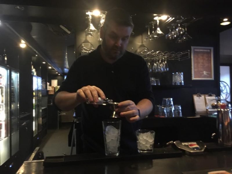 Master Mixologist, David Wood at Whisky Macs Bar in Campbeltown