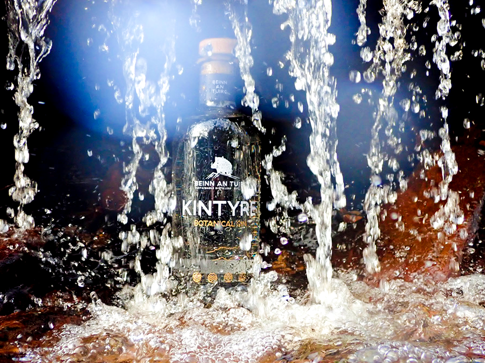 Kintyre Gin is produced with hydro electricity generated on site.